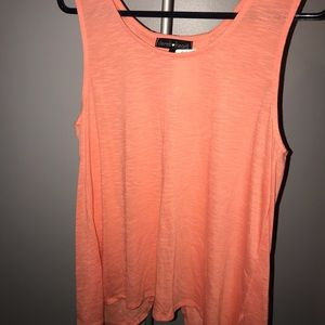 Peach Split Back Tank Top